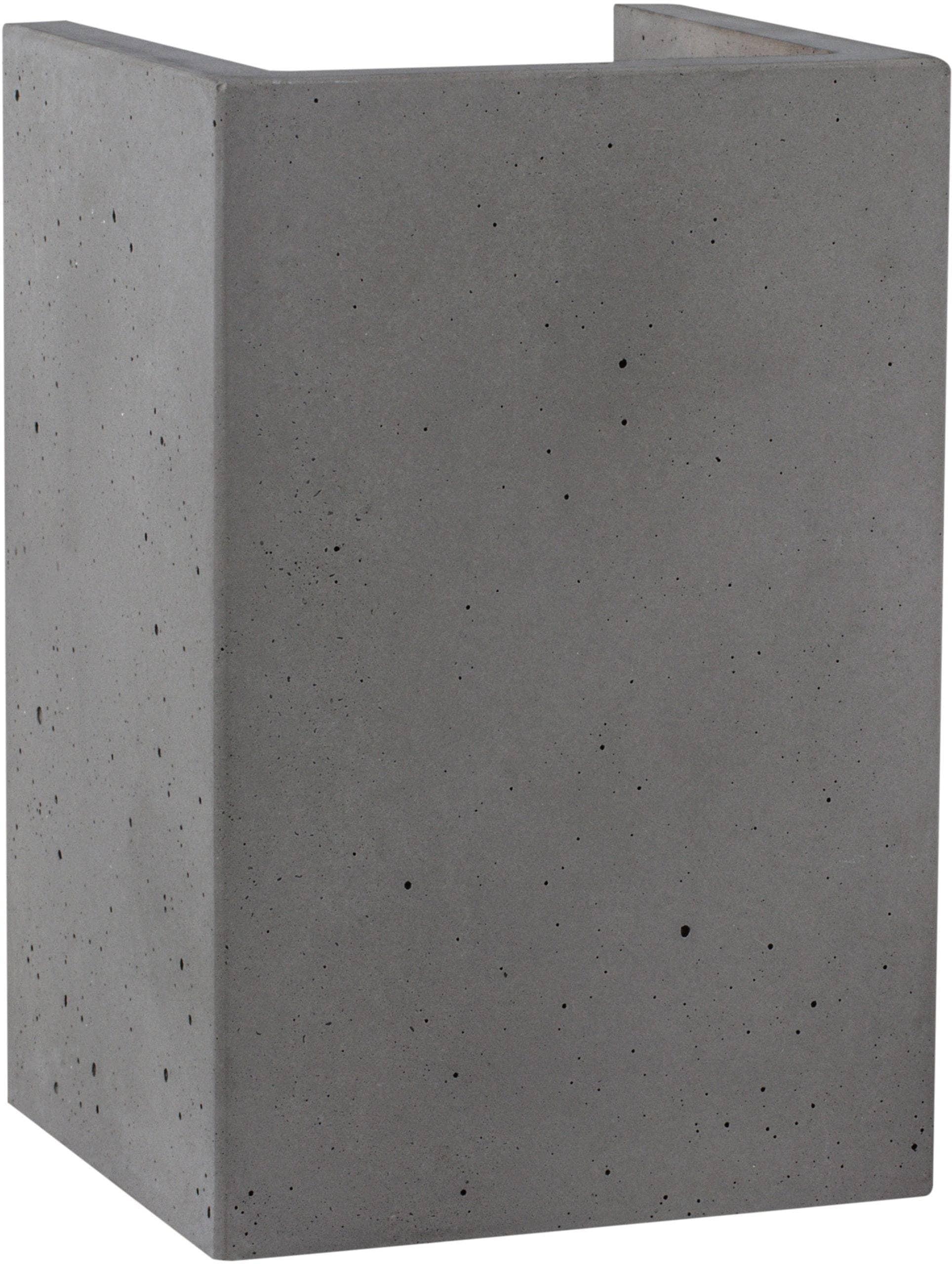 SPOT Light Wandleuchte BLOCK, GU10, Naturprodukt aus echtem Beton, Handgefertigt, Made in EU