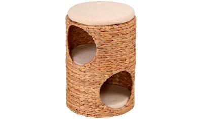SILVIO design Tierbett »Korbturm Wasserhyazinthe«, BxLxH: 32x32x47 cm, natur kaufen