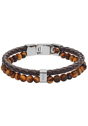 Fossil Armband »VINTAGE CASUAL, JF03118040«, mit Tigeraugen kaufen