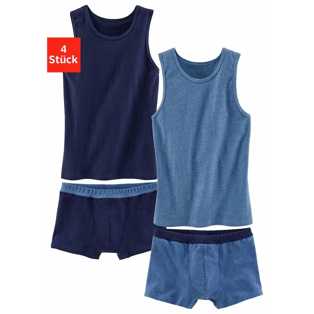 AUTHENTIC UNDERWEAR Set: Unterhemd, 2-farbig
