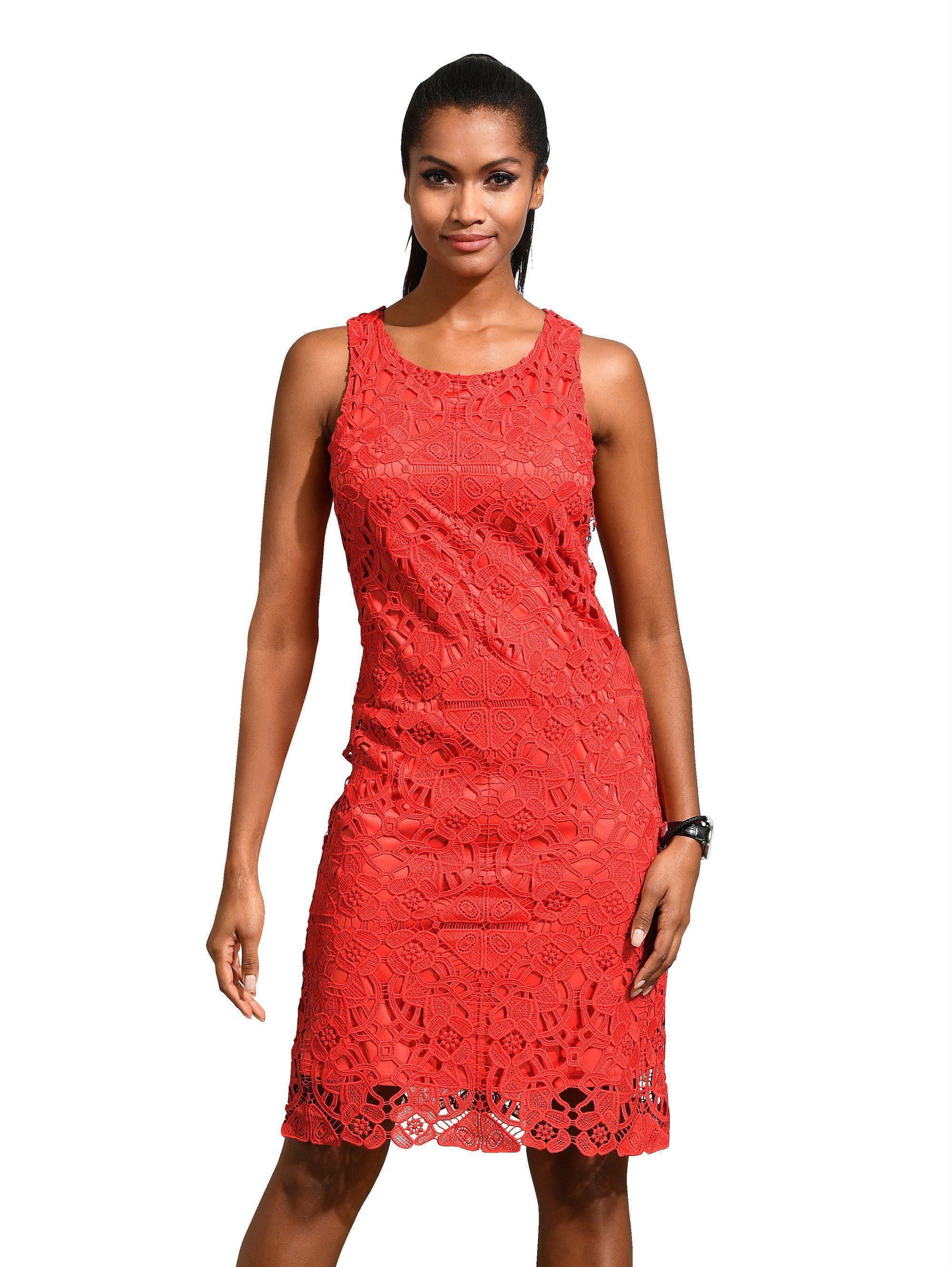 Alba Moda Etui-Kleid mit Spitze allover