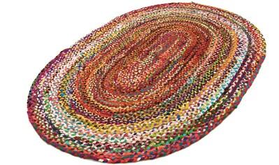 morgenland Wollteppich »Sisalteppich Teppich Indigo Stripy«, oval, 7 mm Höhe kaufen