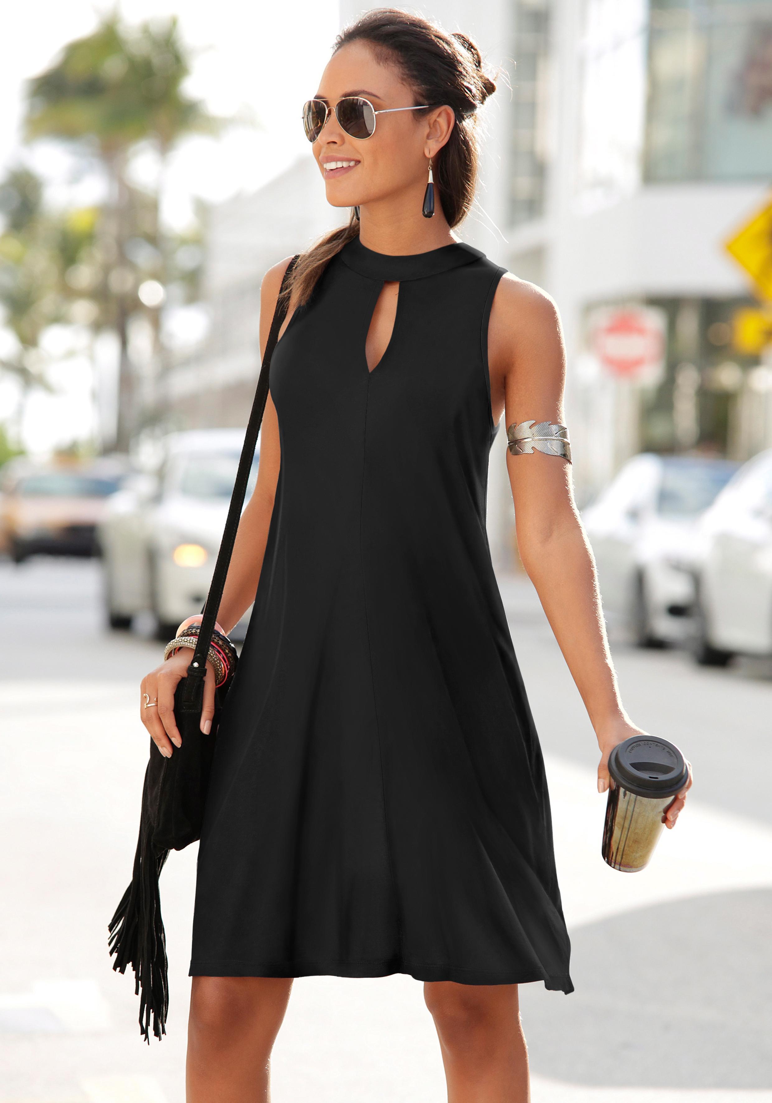 uk billig verkaufen farblich passend feinste Stoffe LASCANA Strandkleid mit Öffnung online kaufen | BAUR