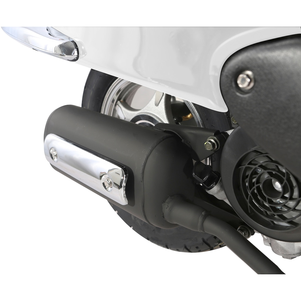 Alpha Motors Motorroller »Retro Firenze«, 3 PS, 50 ccm, 45 km/h, weiß