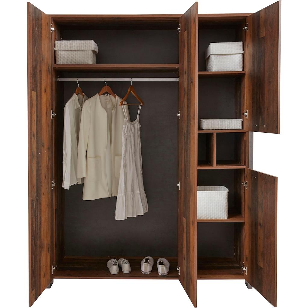 FORTE Kleiderschrank »Clif«, mit Spiegelauflage