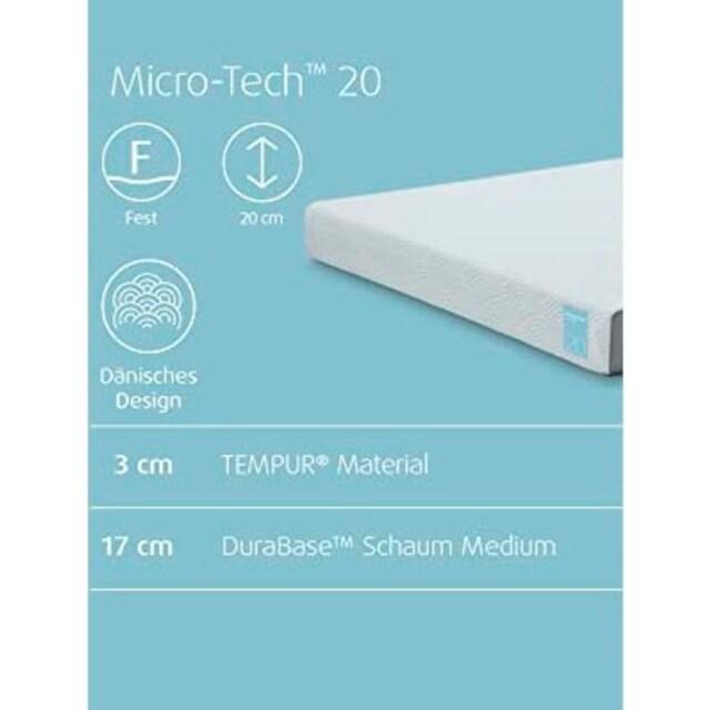 Visco-Matratze »Micro-Tech«, Tempur, 20 cm hoch