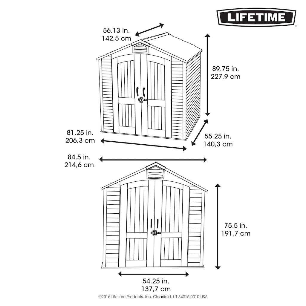 Lifetime Gerätehaus »Starlet«, inkl. Fußboden und Regale