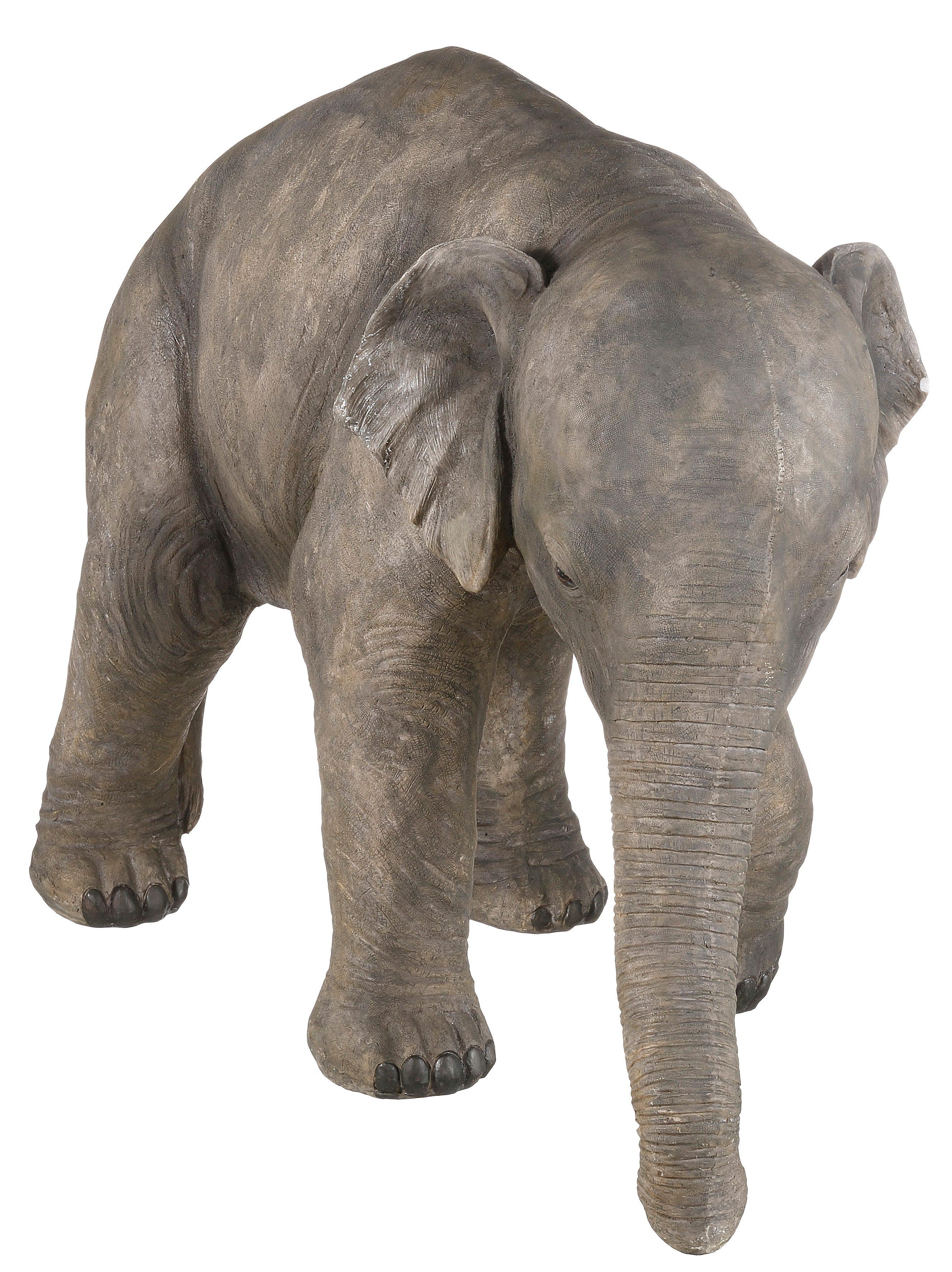 Dekofigur, Home affaire, »Elefant« | Dekoration > Figuren und Skulpturen > Tiere | Grau | Kunststein | HOME AFFAIRE