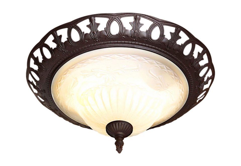 TRIO Leuchten Deckenleuchte Rustica, E27, Deckenlampe, Leuchtmittel tauschbar