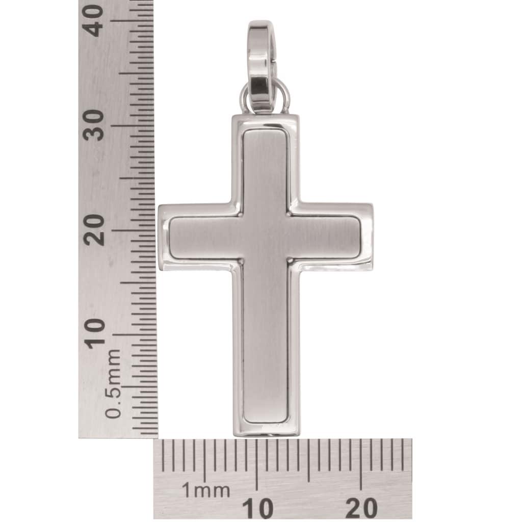 Firetti Kettenanhänger »Kreuz mit Einlage, Glanz, massiv«, Made in Germany