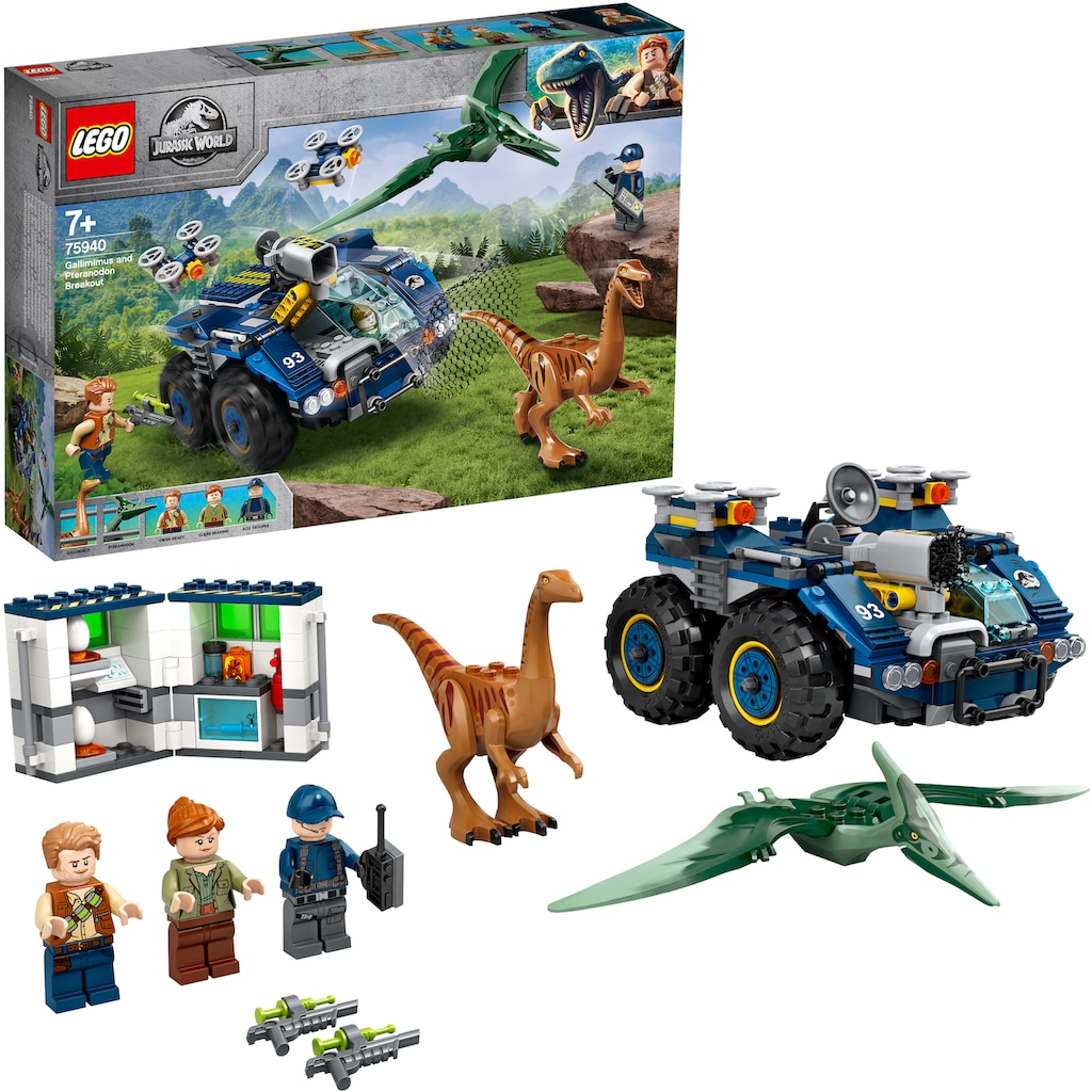 LEGO® Konstruktionsspielsteine »Ausbruch von Gallimimus und Pteranodon (75940), LEGO® Jurassic World™«, (391 St.)