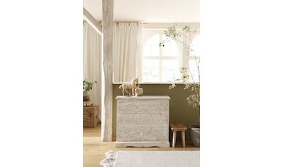 Home affaire Kommode »Landor«, aus massivem Mangoholz, mit Holzgriffen, 3 Schubkästen, Handgefertigt, Breite 88 cm kaufen