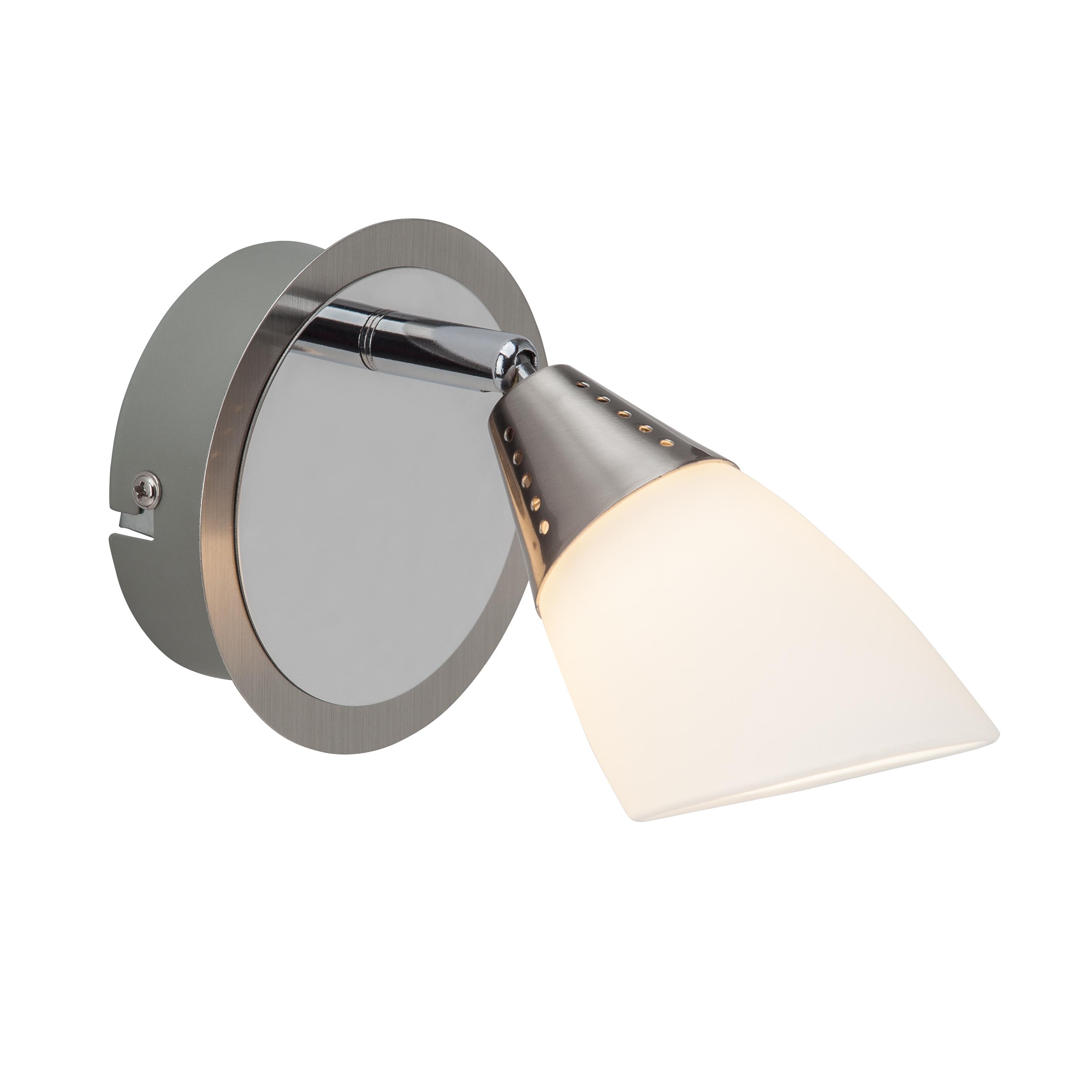 Brilliant Leuchten Opalina LED Wandspot eisen chrom/weiß