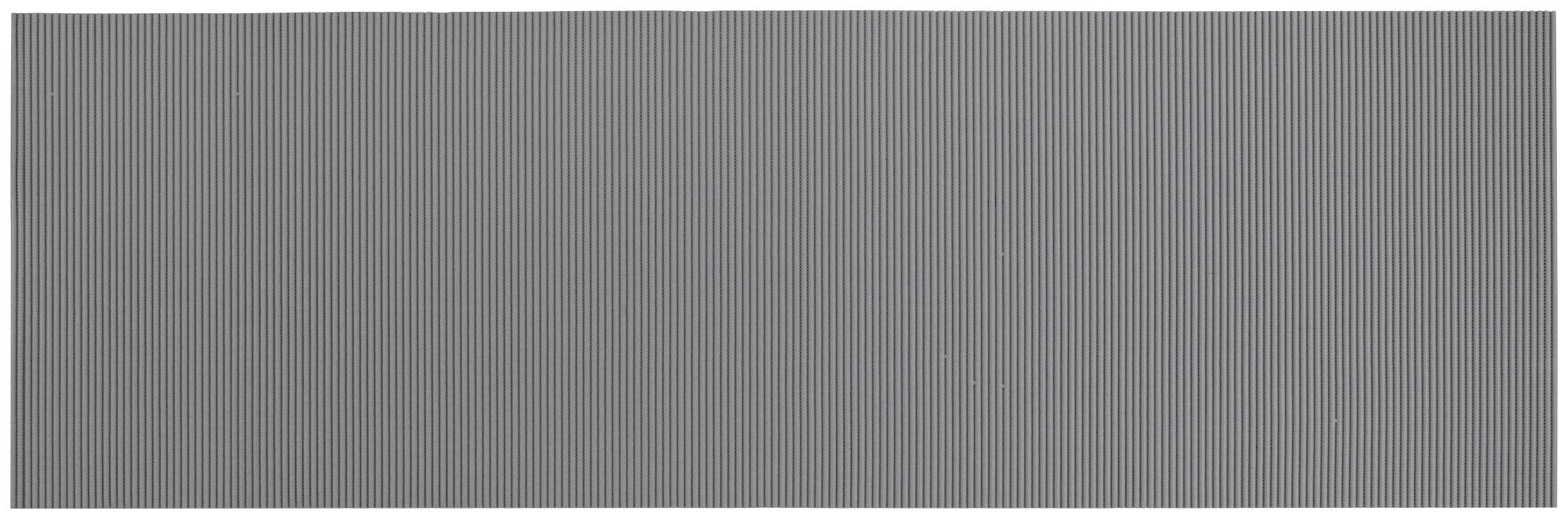 WENKO Badematte, Höhe 50 mm, BxL: 65 x 200 cm grau Badematte Badematten