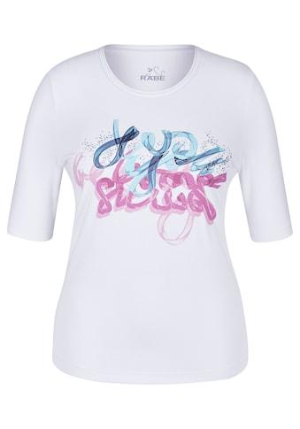 Rabe T - Shirt mit Front - Print und Ziersteinchen kaufen