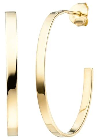 JOBO Paar Creolen, oval 925 Silber vergoldet kaufen