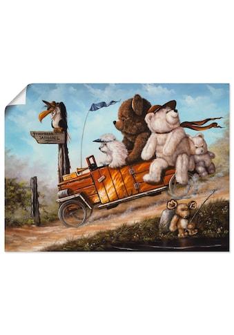 Artland Wandbild »Reisendes Kinderspielzeug«, Spielzeuge, (1 St.), in vielen Größen &... kaufen