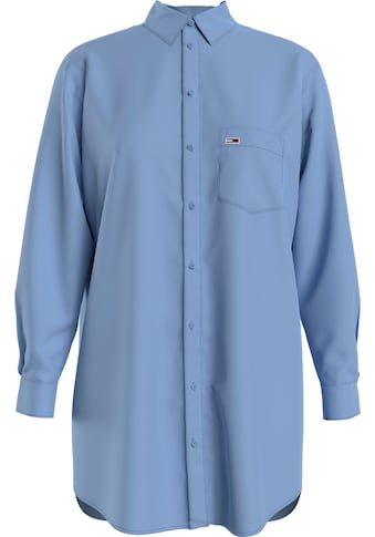 Tommy Jeans Longbluse »TJW RELAXED LONG SHIRT«, mit Tommy Jeans Logo-Flag auf der Brust kaufen