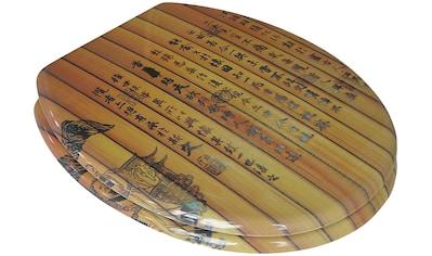 ADOB WC - Sitz »Chinesische Schrift«, mit messingverchromten Scharnieren kaufen
