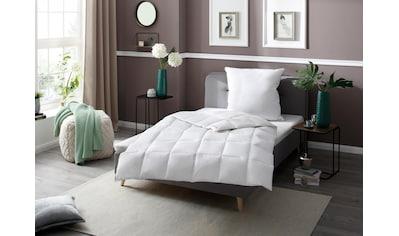 Gänsedaunenbettdecke + Kopfkissen, »Superior«, RIBECO, (Spar - Set) kaufen