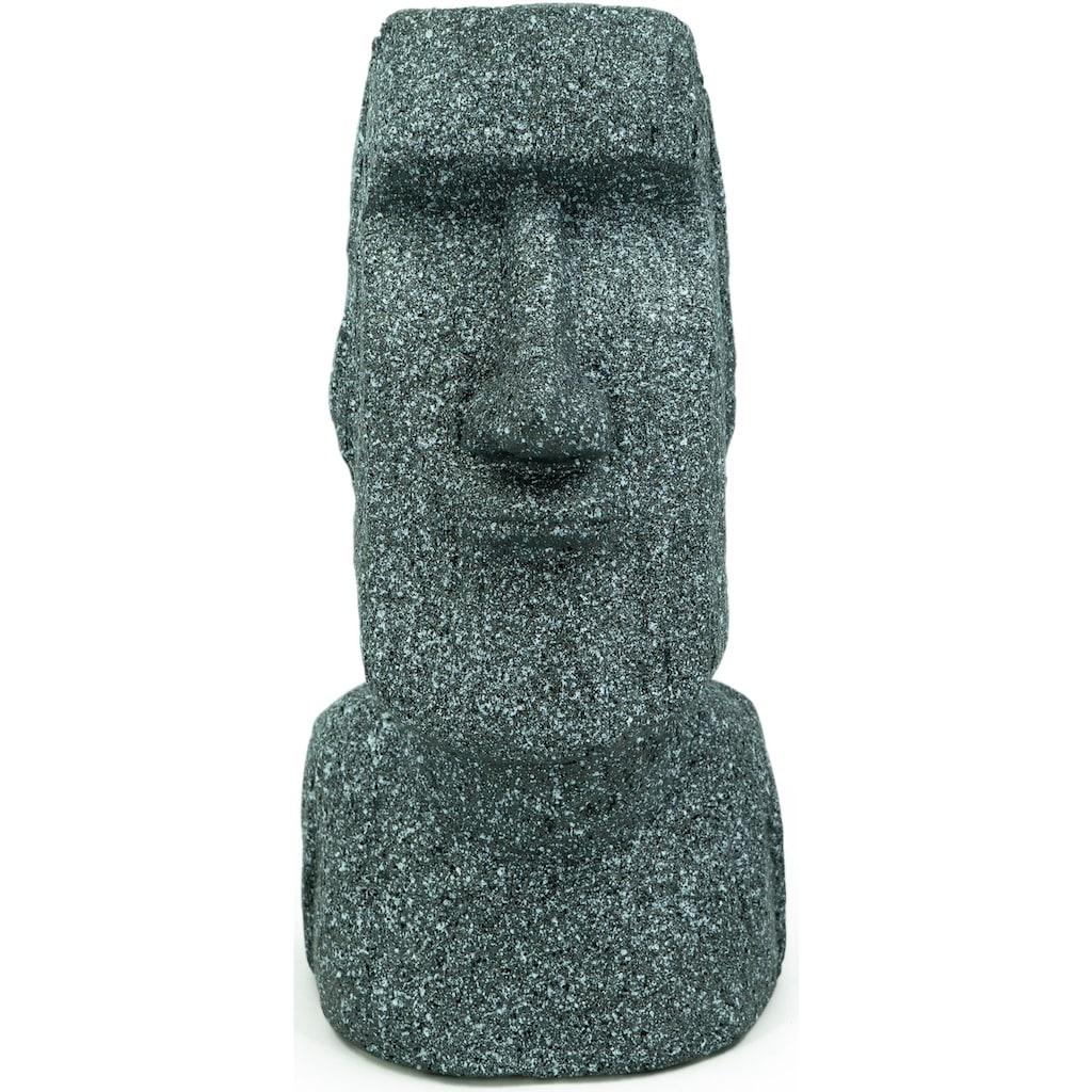 NOOR LIVING Gartenfigur »Osterinsel Skulptur Moai Kopf M«, (1 St.)