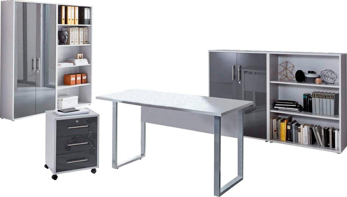 BMG Büro-Set Tabor Mini Kombi 1 grau Büromöbel