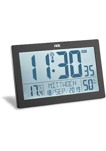 ADE Funkwecker »CK1927«, (1 tlg.), XL-Funkwanduhr mit Thermo-/Hygrometer kaufen