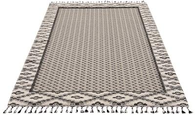 andas Teppich »Frida«, rechteckig, 18 mm Höhe, Woll-Look, Wohnzimmer kaufen