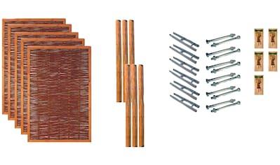 T&J Weidenzaun »Fresno 3«, 5 Elemente, LxH: 654x180 cm kaufen