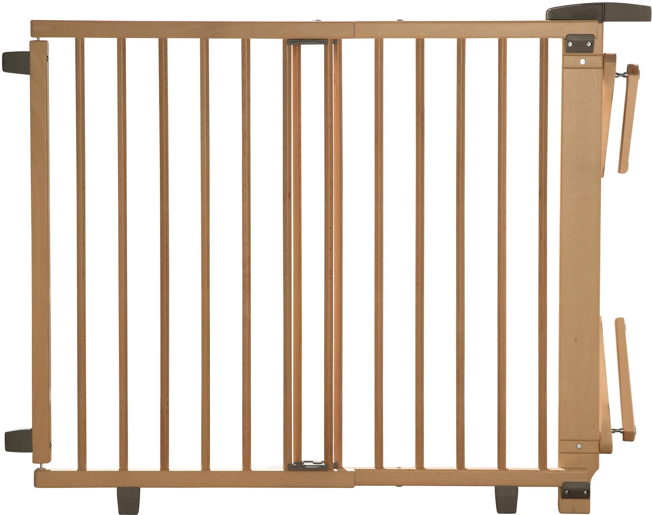 Geuther Treppenschutzgitter Plus natur 95-135 cm Kindermode/Ausstattung/Babygitter/Treppenschutzgitter