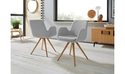INOSIGN Armlehnstuhl »Malmö«, Bezug in Strukturstoff oder Leder das Gestell aus Eiche... kaufen