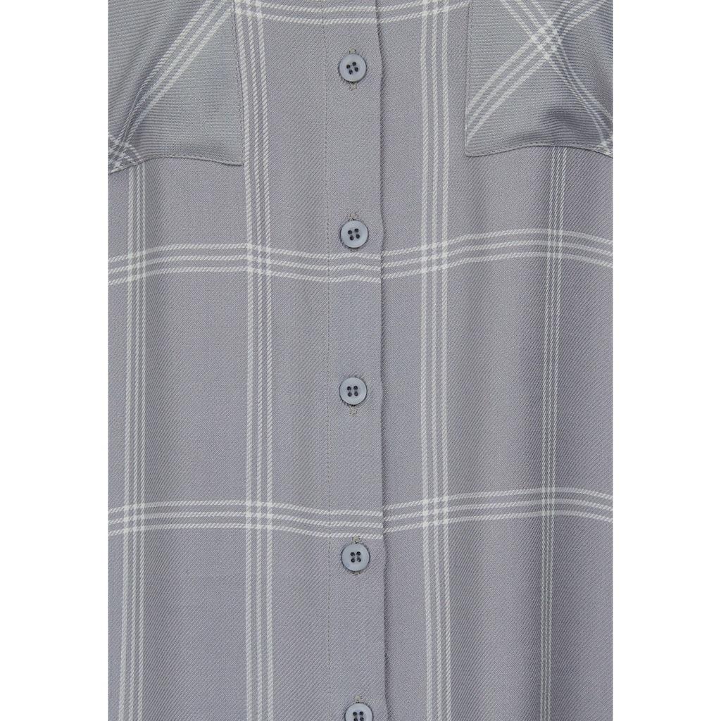 Boysen's Longbluse, mit garngefärbtem Karo-Muster