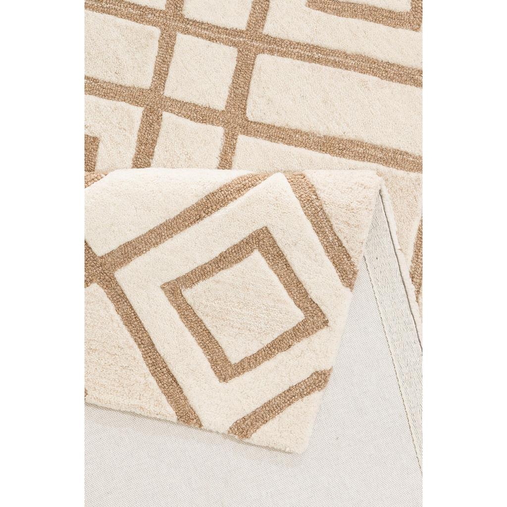 Leonique Teppich »Temel«, rechteckig, 14 mm Höhe, Wollteppich, Wohnzimmer