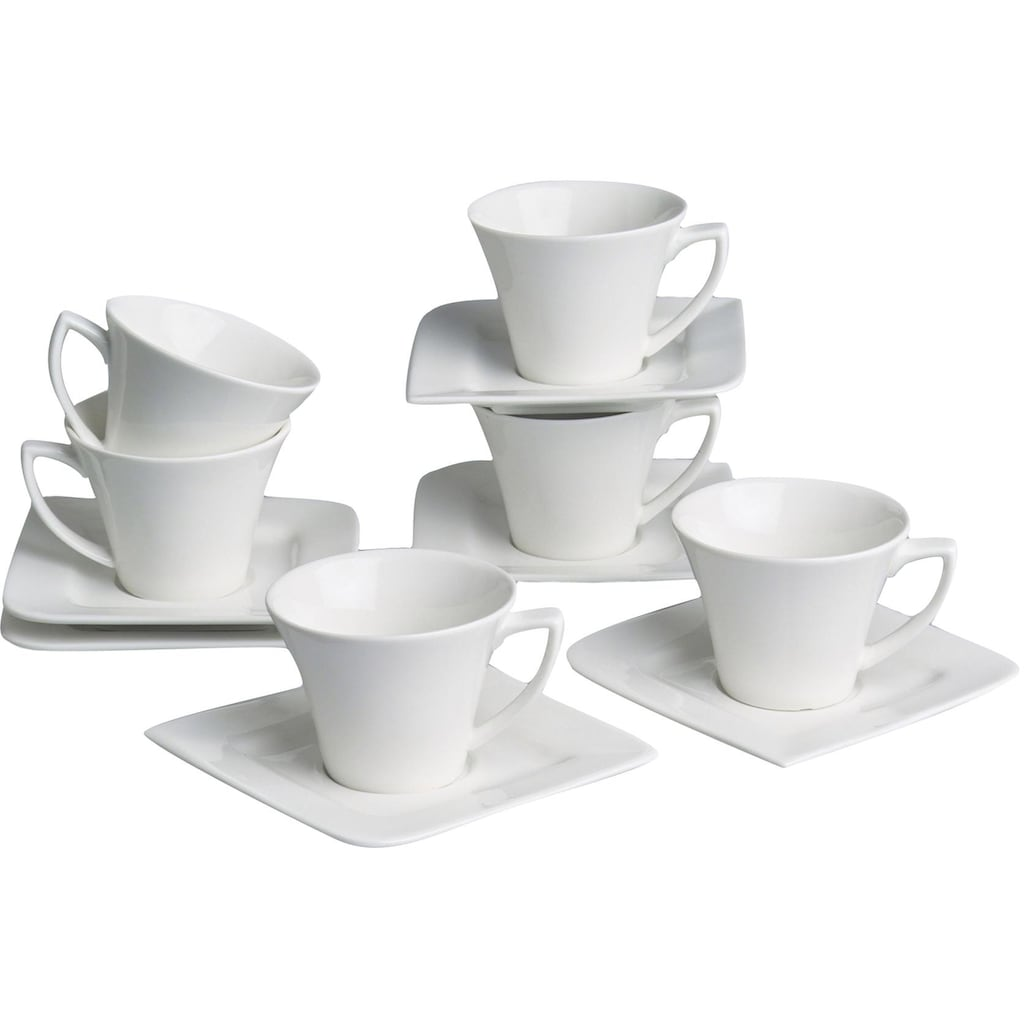 Retsch Arzberg Espressotasse »Fantastic«, (Set, 12 tlg., 6 Espresso Obertassen-6 Espresso Untertassen), 6 Espressotassen, 6 Untertassen
