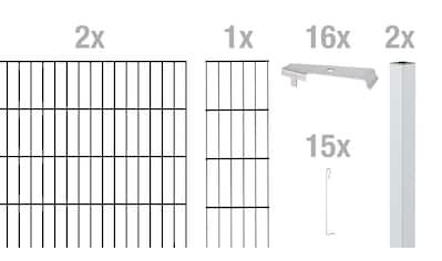 GAH Alberts Mauersystem »Cluster-Gabionen Anbauset«, anthrazit, 100 cm hoch, 2 m kaufen
