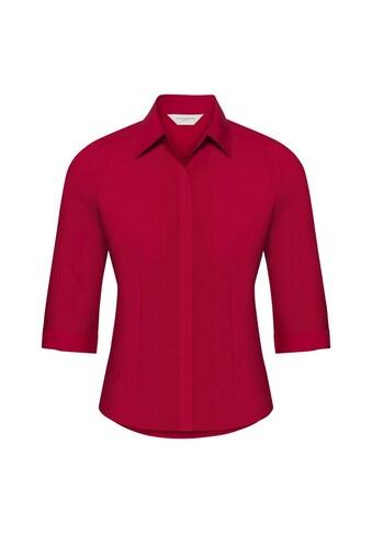 Russell 3/4-Arm-Shirt »Collection Popelin Bluse, pflegeleicht, tailliert, 3/4-Ärmel« kaufen