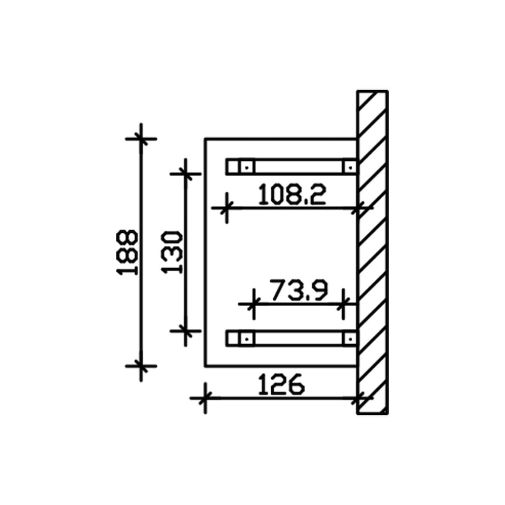 Skanholz Vordach »Wesel 4«, BxTxH: 188x126x264 cm