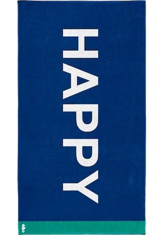 """Strandtuch """"Happy"""", Seahorse kaufen"""