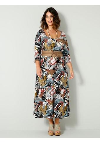 Sara Lindholm by HAPPYsize Jerseykleid, mit elastischer Teilungsnaht in der Taille kaufen