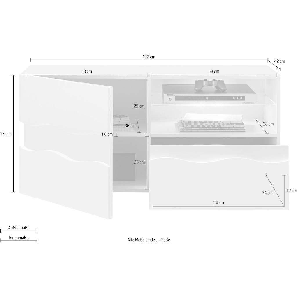 LC Lowboard, Breite 122 cm