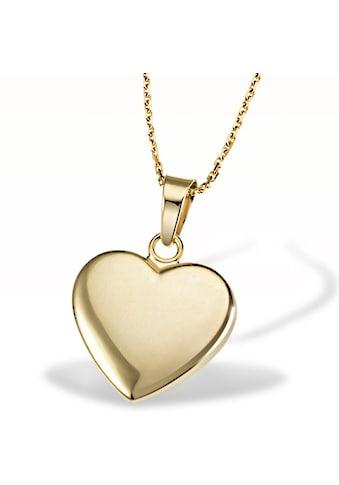 goldmaid Collier Herz 375/- Gelbgold matt Ankerkette 45 cm kaufen