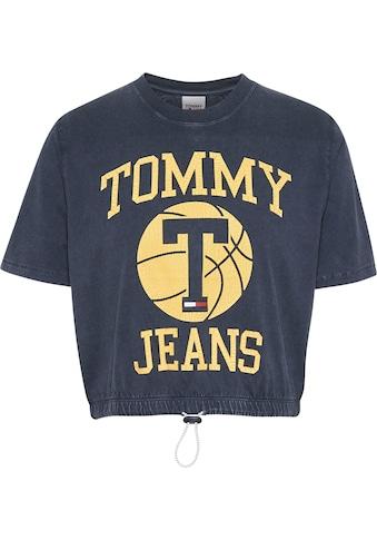Tommy Jeans Rundhalsshirt »TJW BXY CROP CRACKED LOGO TEE«, mit goldfarbenen Tommy... kaufen