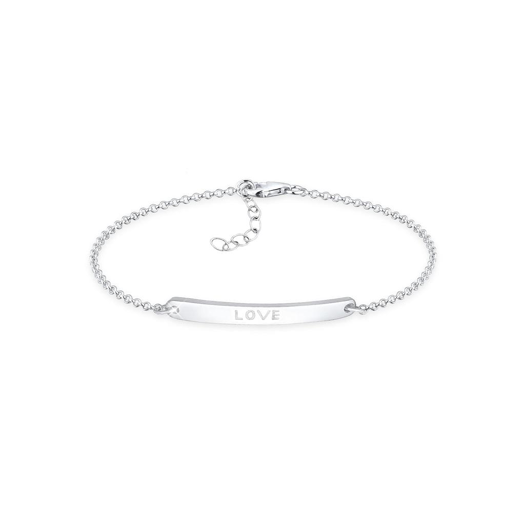Elli Armband »Love-Schriftzug 925 Sterling Silber«