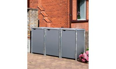 HIDE Mülltonnenbox für 3 x 240 l, grau kaufen