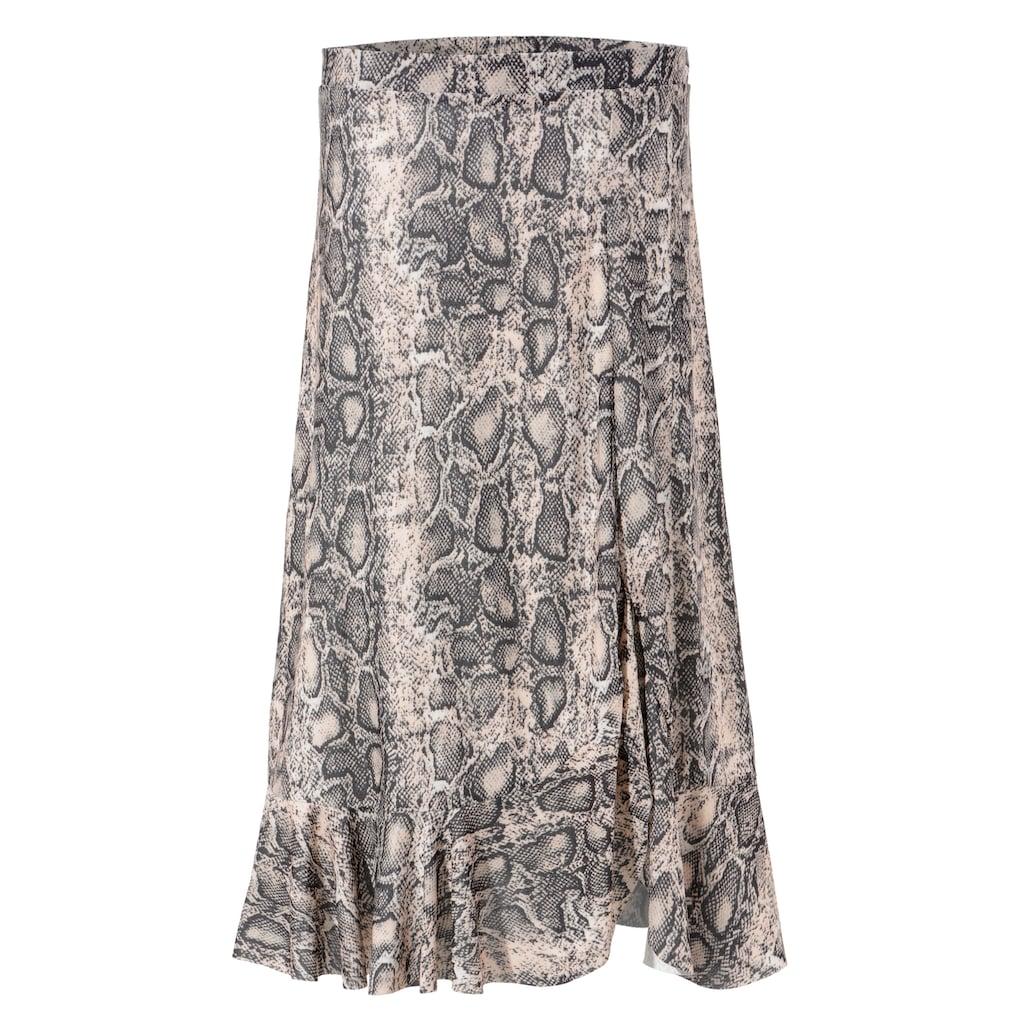 Aniston CASUAL Volantrock, mit trendigem Schlangenprint - NEUE KOLLEKTION