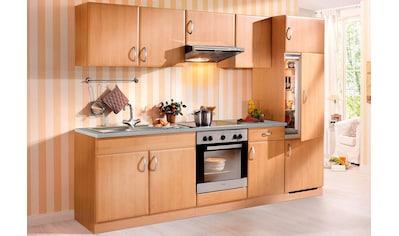 wiho Küchen Küchenzeile »Prag«, mit E-Geräten, Breite 270 cm kaufen