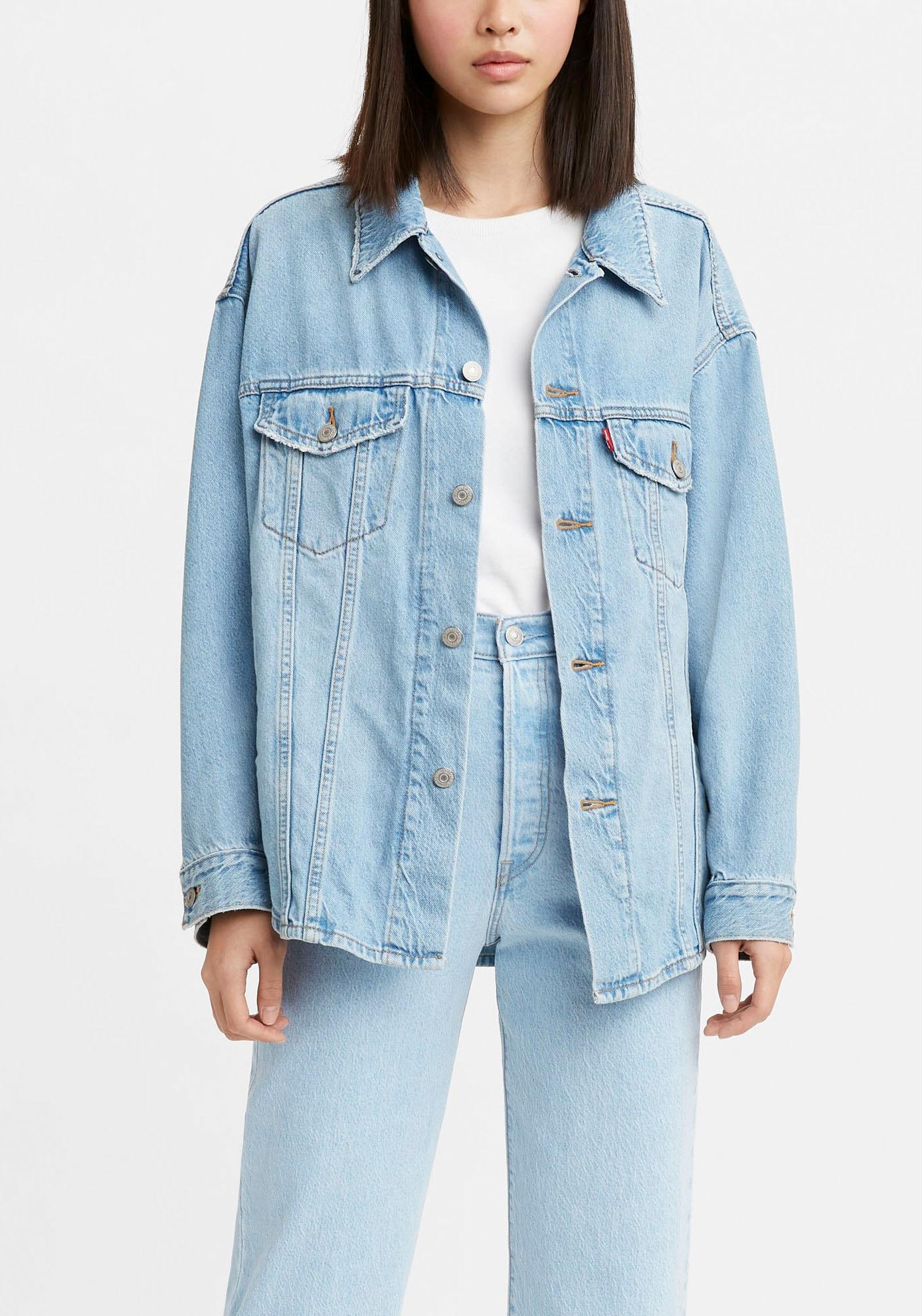levis - Levi's Jeansjacke SHACKET TRUCKER, aus Jeans