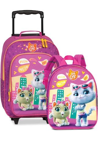 fabrizio® Kinderkoffer »44Cats, Rosa«, (Set, 2 St.), 2 Rollen, Trolley & Rucksack kaufen