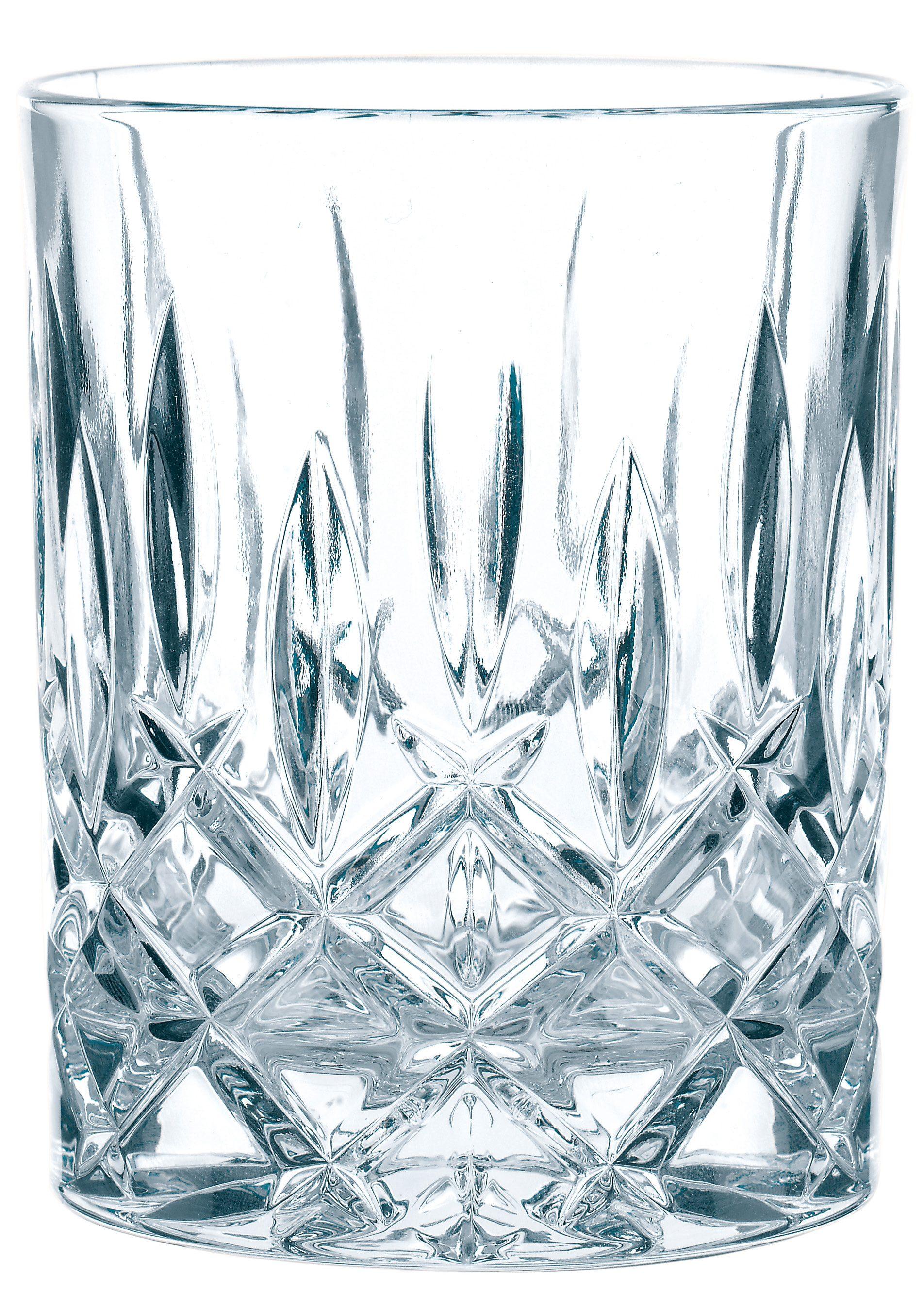 Nachtmann Whiskyglas Noblesse, (Set, 4 tlg.), edler Schliff, 4-teilig farblos Kristallgläser Gläser Glaswaren Haushaltswaren