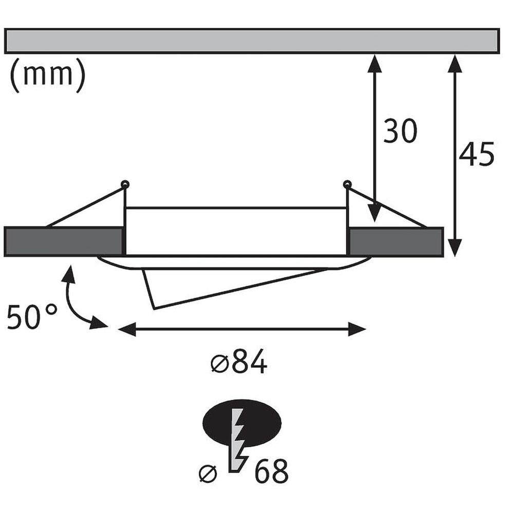 Paulmann LED Einbaustrahler »Nova rund 3x6,5W Eisen gebürstet schwenkbar«, 3 St., Warmweiß